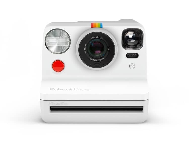 Front View of White Polaroid Now Camera