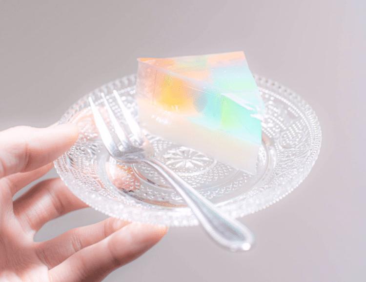 Rainbow Gelatin Cake by tsunekawa