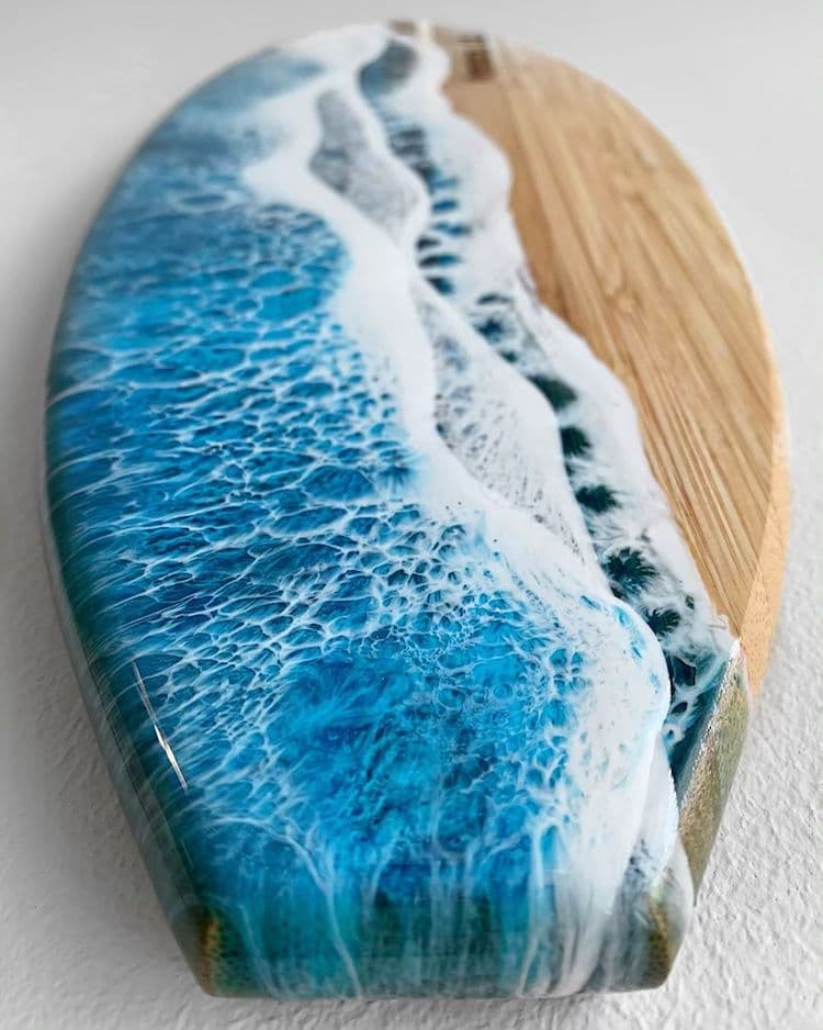 Ocean Resin Art by Roni Langley