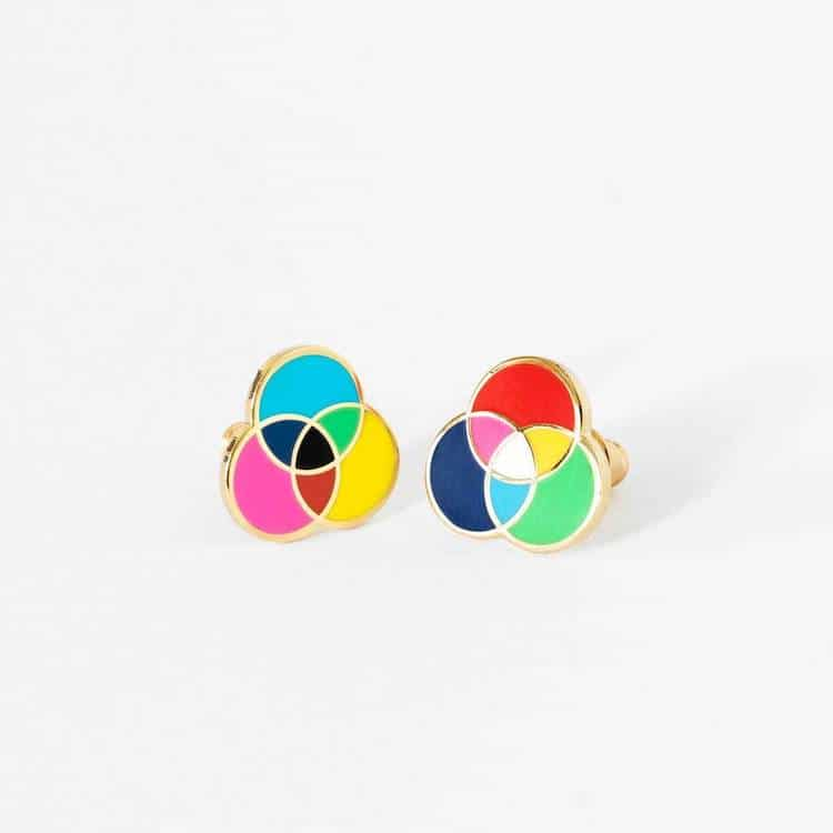 RGB & CMYK Earrings by Yellow Owl Workshop
