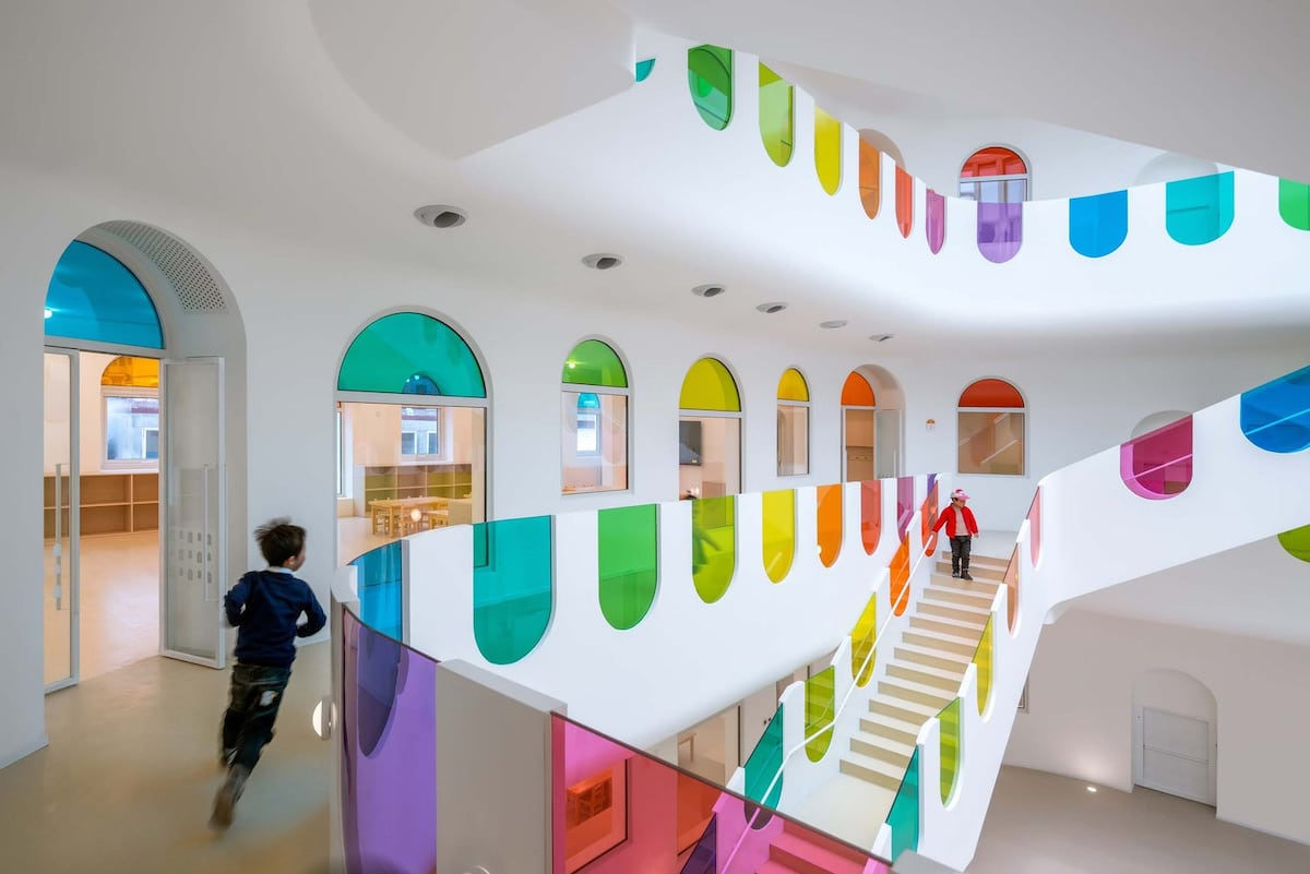 Interior of Rainbow Kindergarten in China