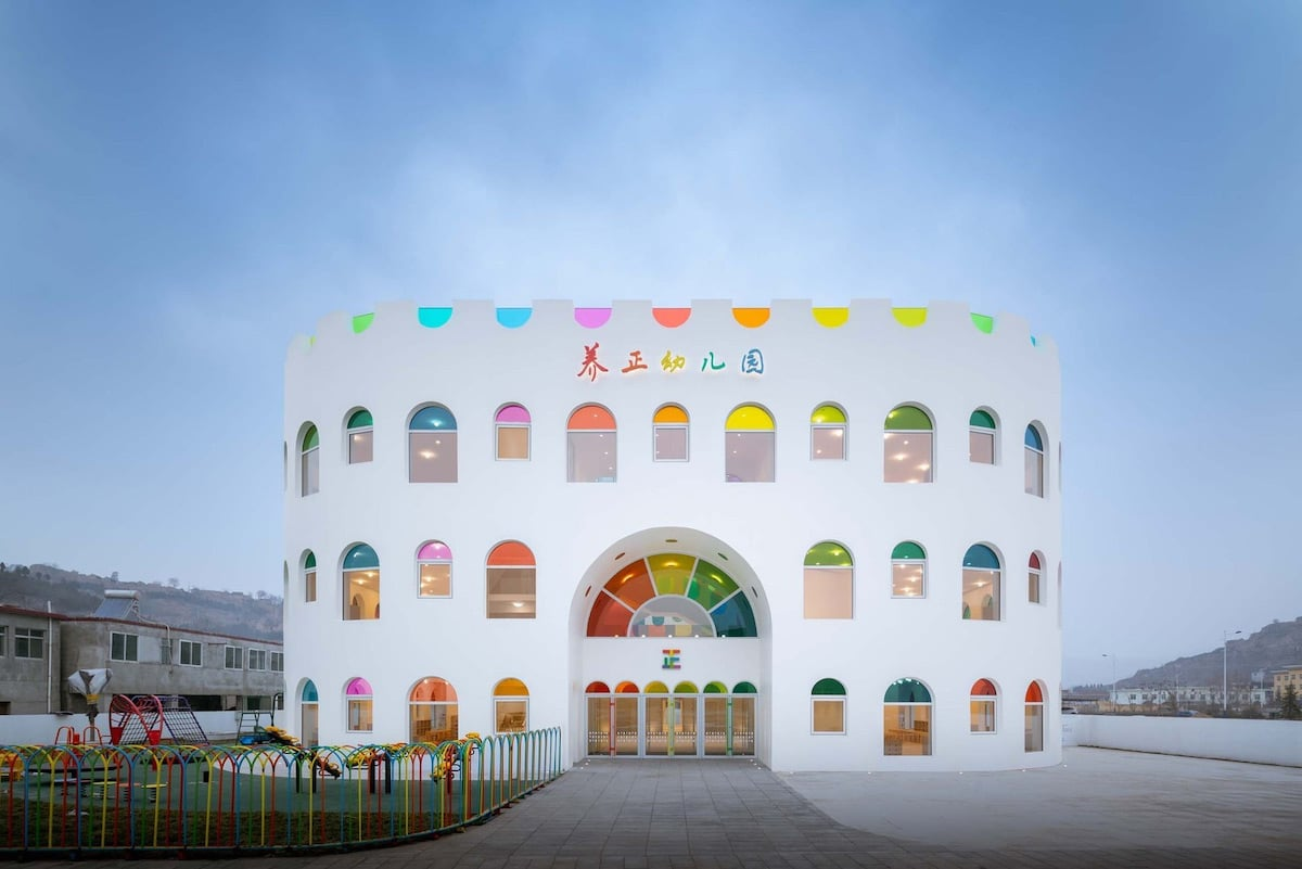 Rainbow Kindergarten by SAKO Architects
