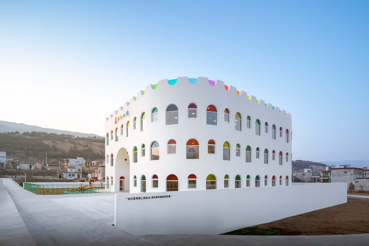 Building with Multicolor Windows in China