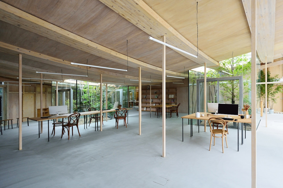Interior of Timber Frame Office