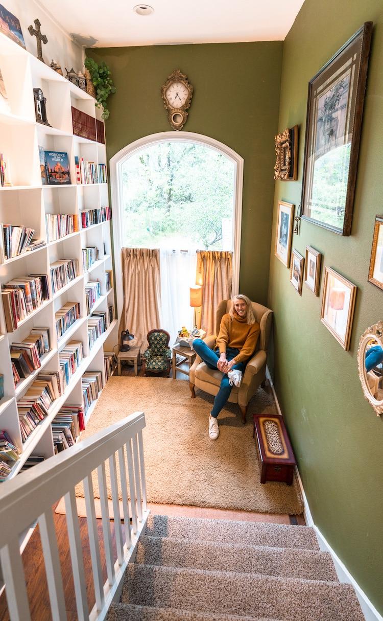biblioteca secreta en hotel Bella Vista Bed and Breakfast