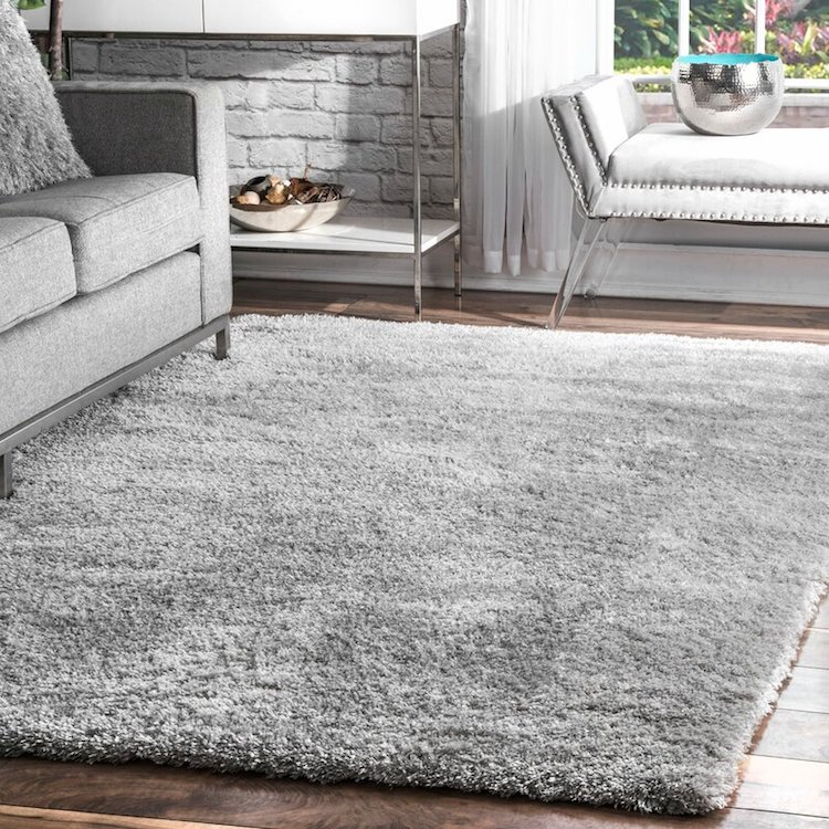Grey Shag Rug by Mack & Milo
