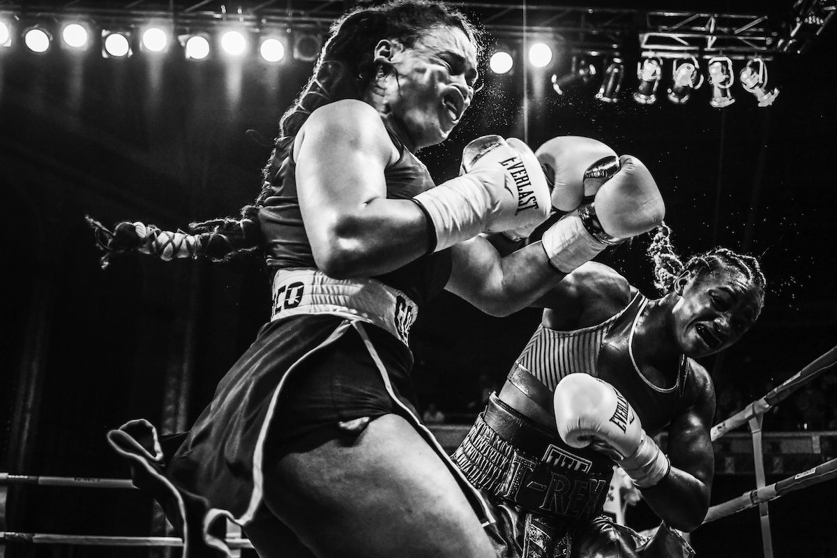 American Female Boxers in a Match
