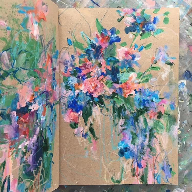 Sketchbook Flower Artwork