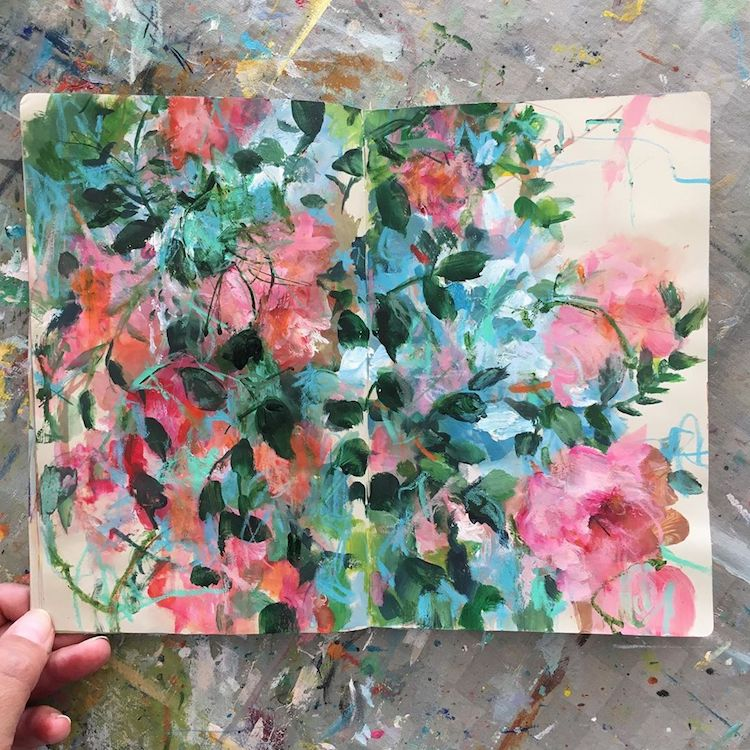 Floral Sketchbook Paintings by Sonal Nathwani