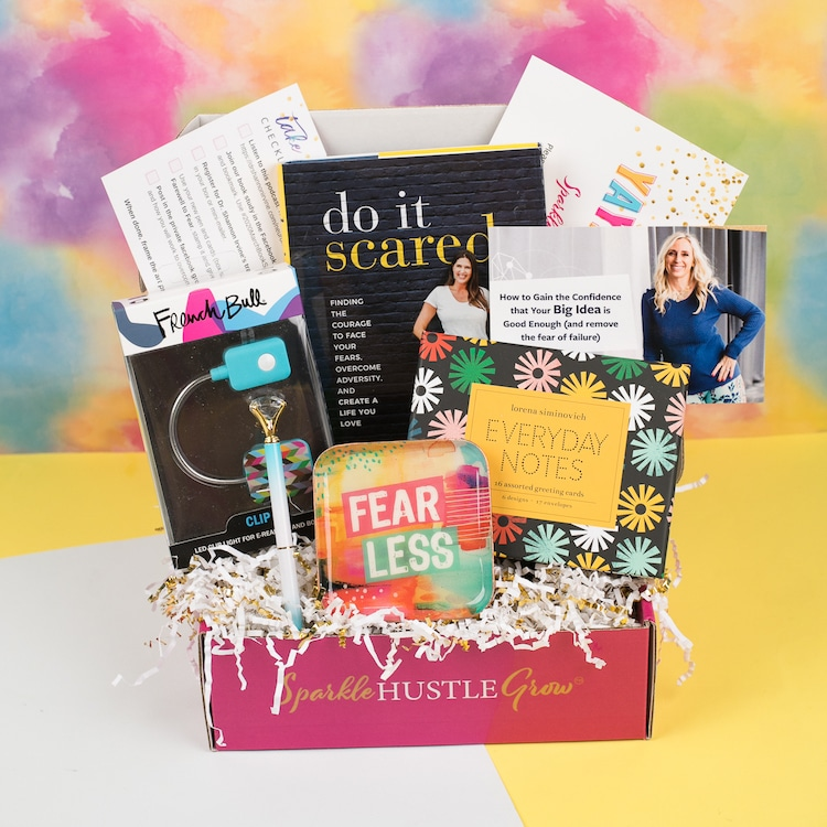 Subscription Box Filled with Inspirational Material for Female Enterpreneurs