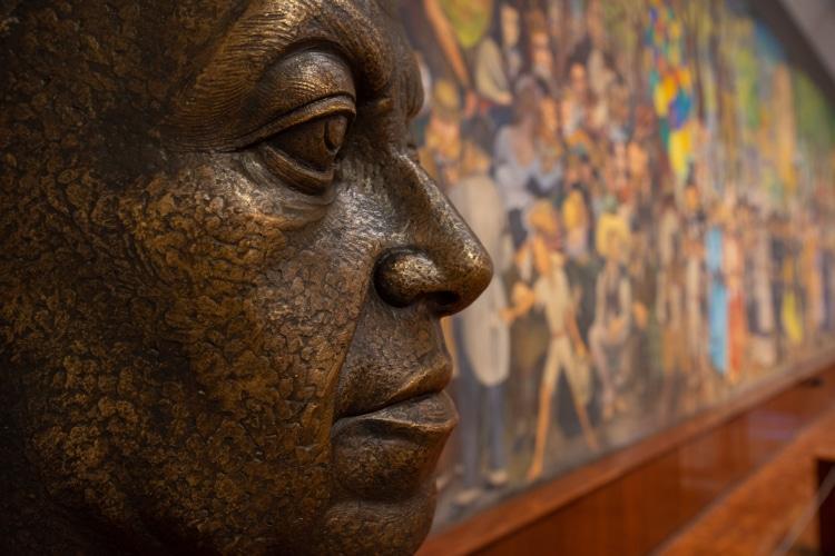 Busto de diego rivera en museo mural diego rivera