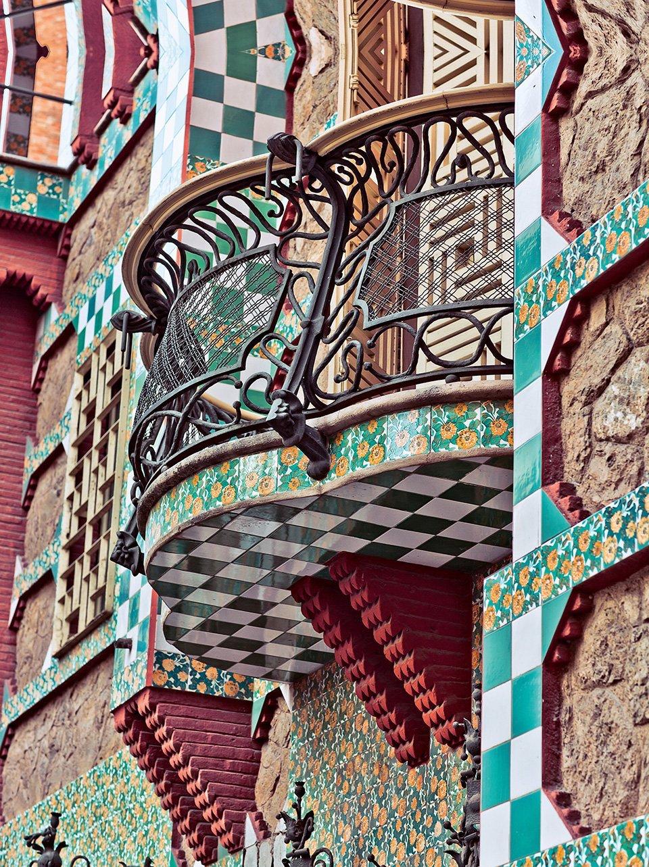 Balcony at Casa Vicens by Gaudi