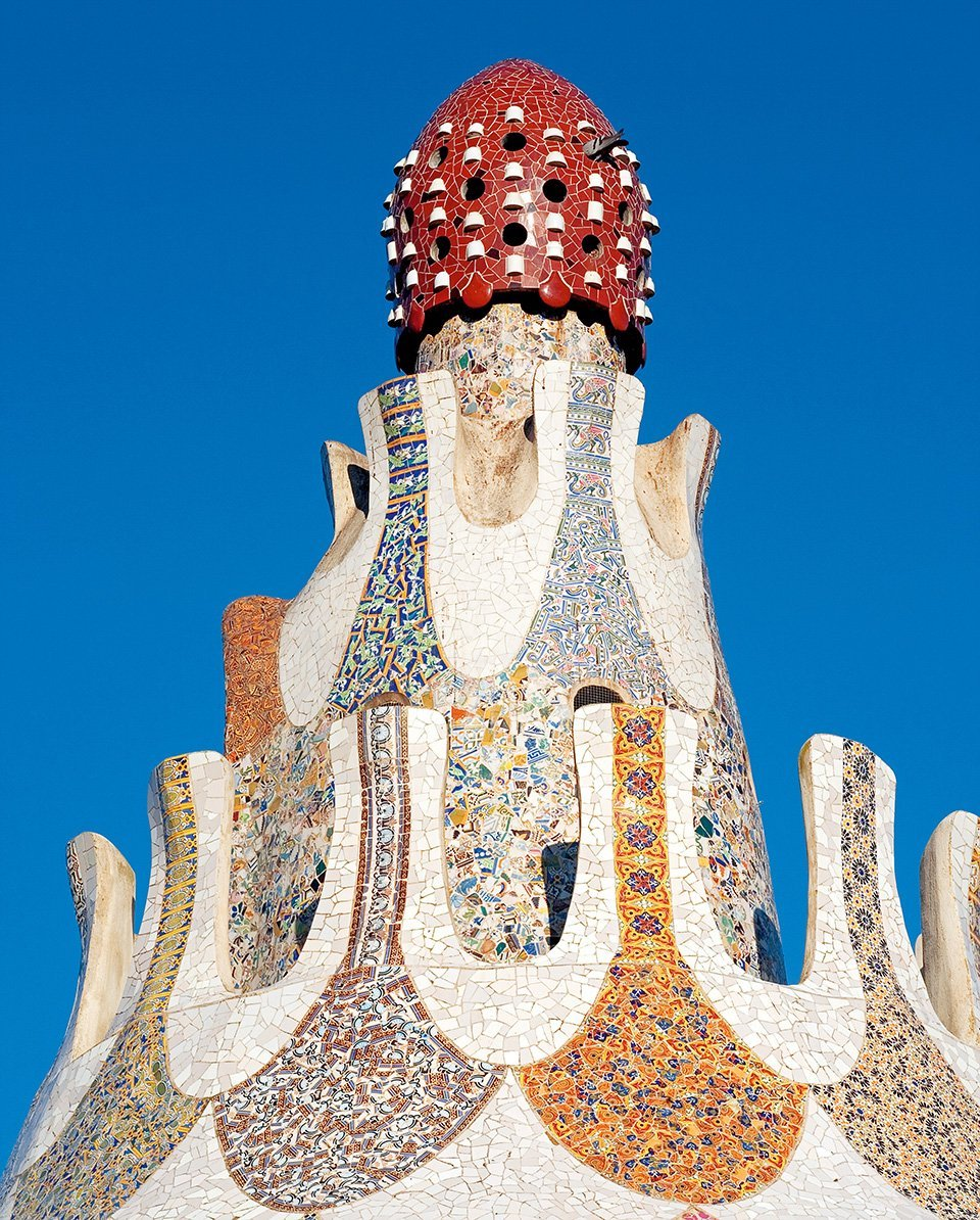 Roof of the porter's lodge at Güell Park