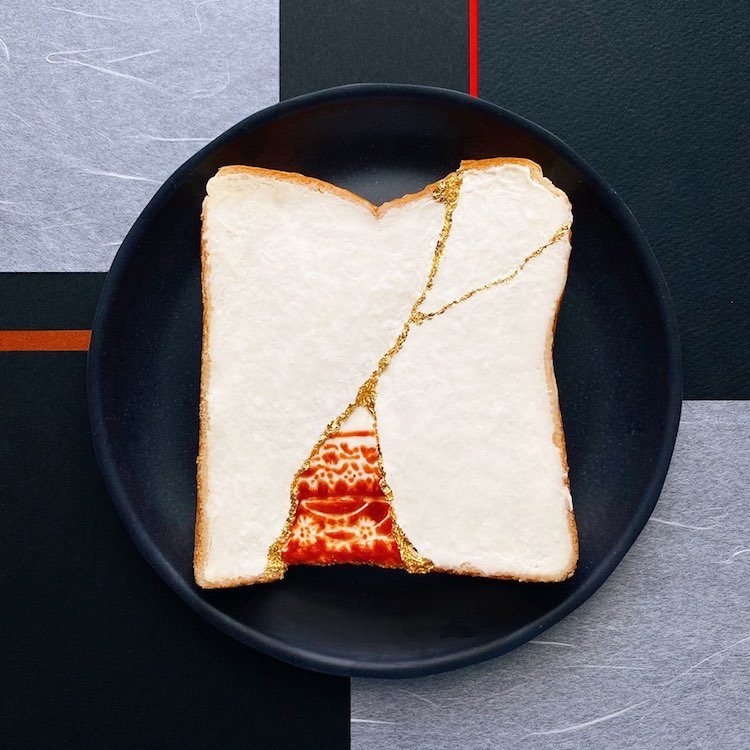 Pane tostato decorato da Manami Sasaki