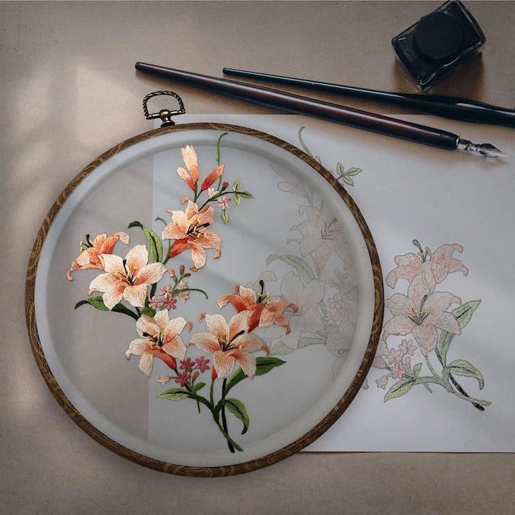 bordado tradicional chino
