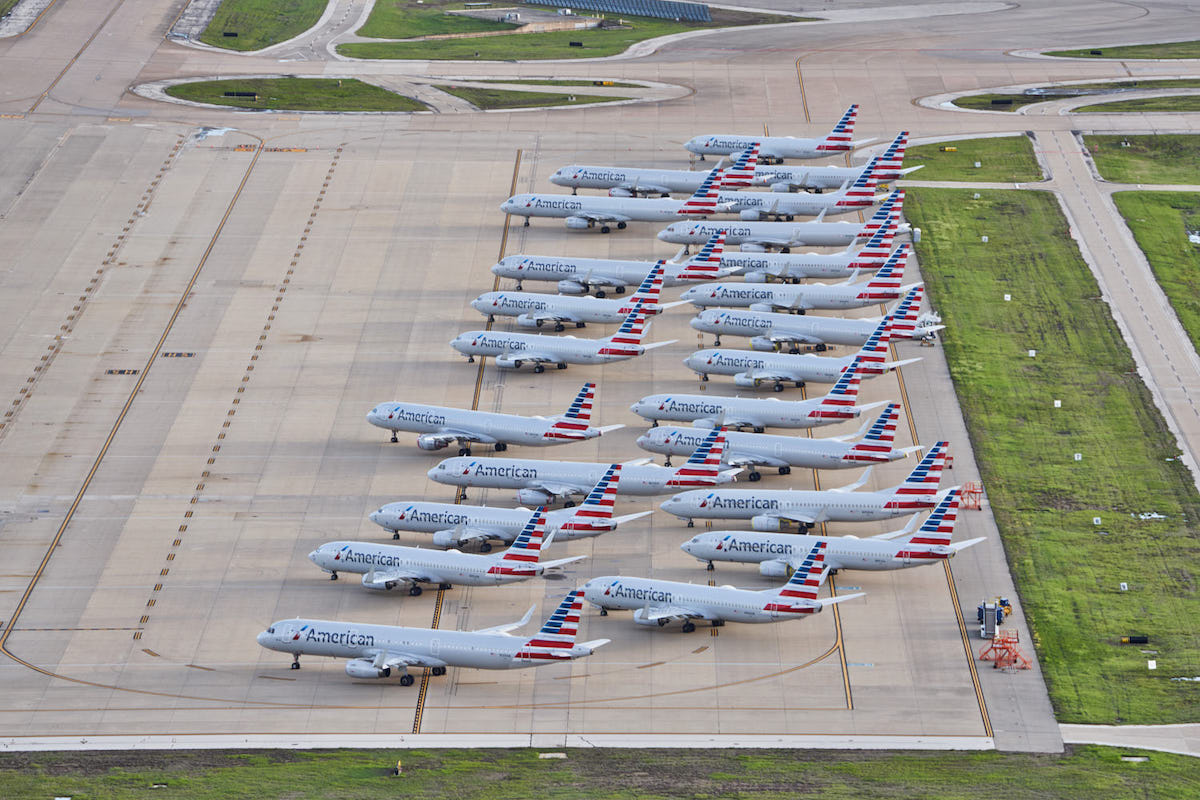 American Airlines Planes Grounded at Dallas/Fort Worth International Airport