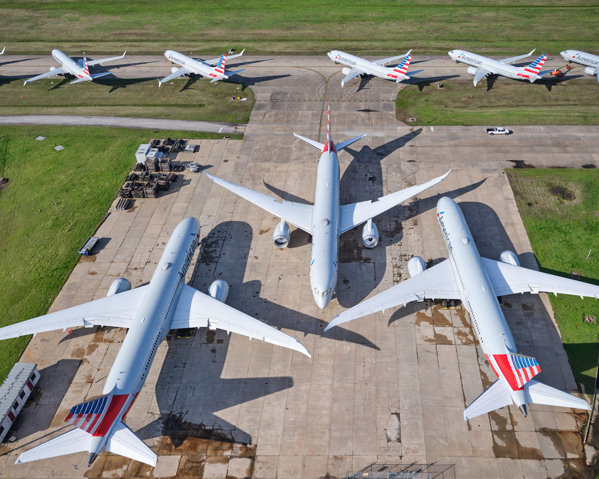 American Airlines Planes at Tulsa International Airport