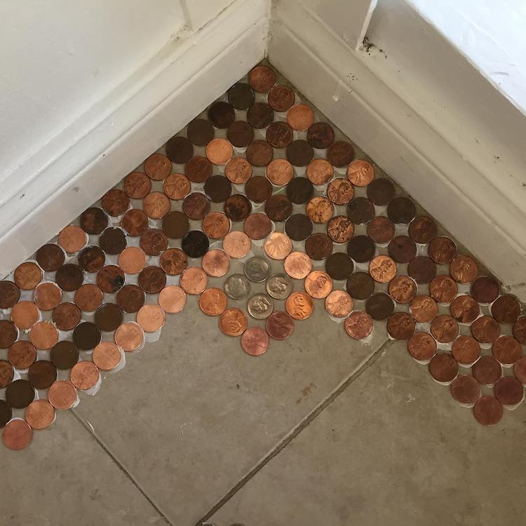 DIY Penny Floor by Kelly Graham