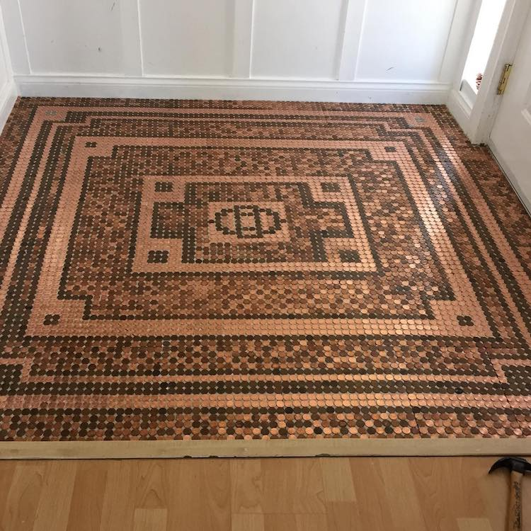 Floor Made Out of Pennies