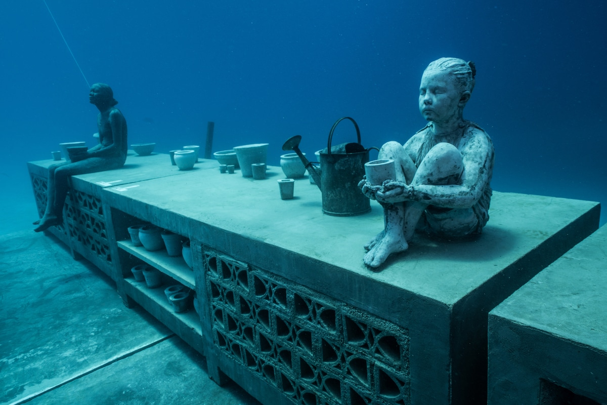 Underwater Sculptures in the Great Barrier Reef