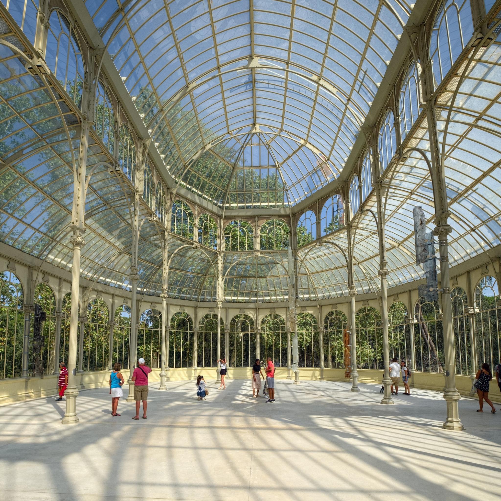 Interior del Palacio de Cristal de Madrid