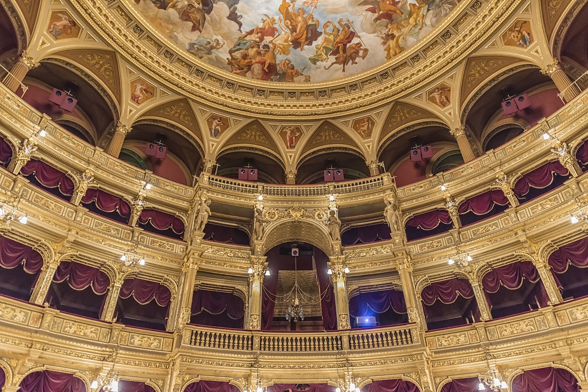 Interior of the Budapest Opera House, Budapest, Hungary