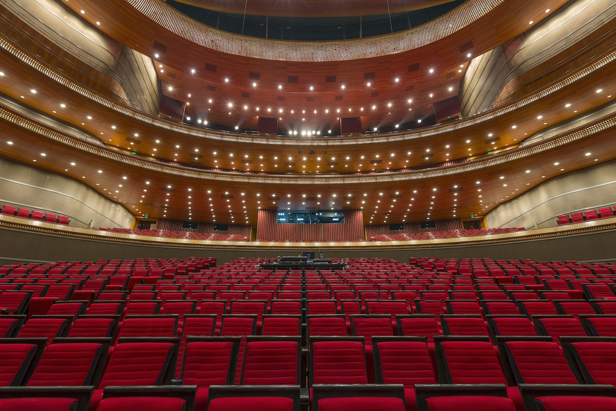 Interior of the National Centre for the Performing Arts, Beijing, China