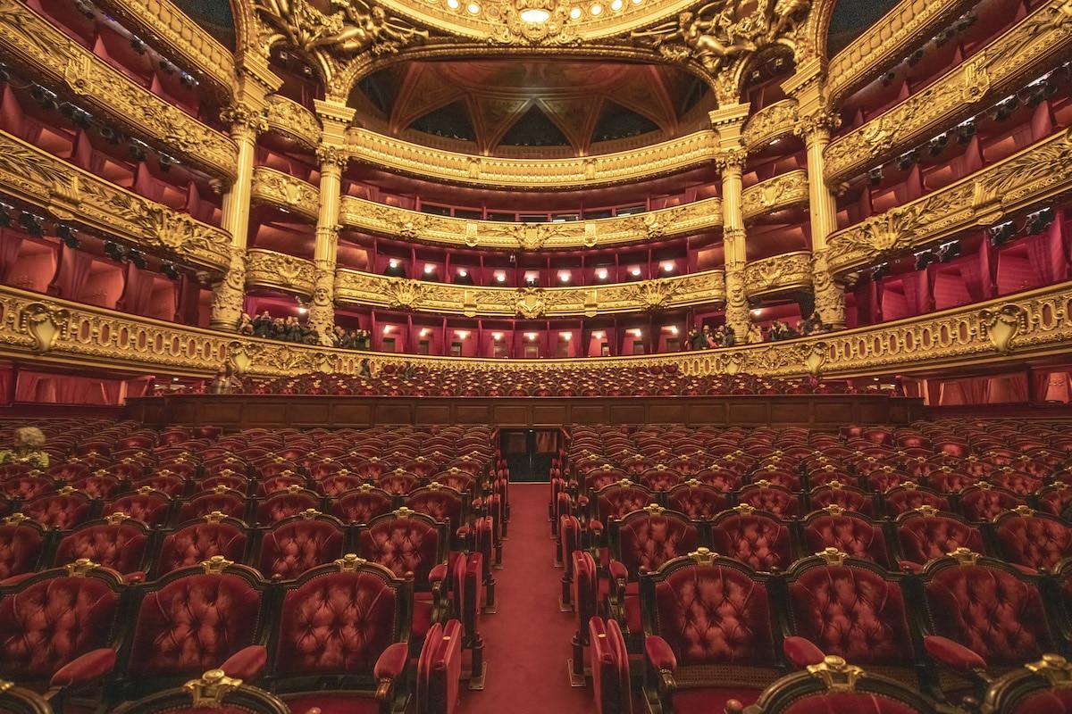 Interior of the Paris Opera House, Paris, France