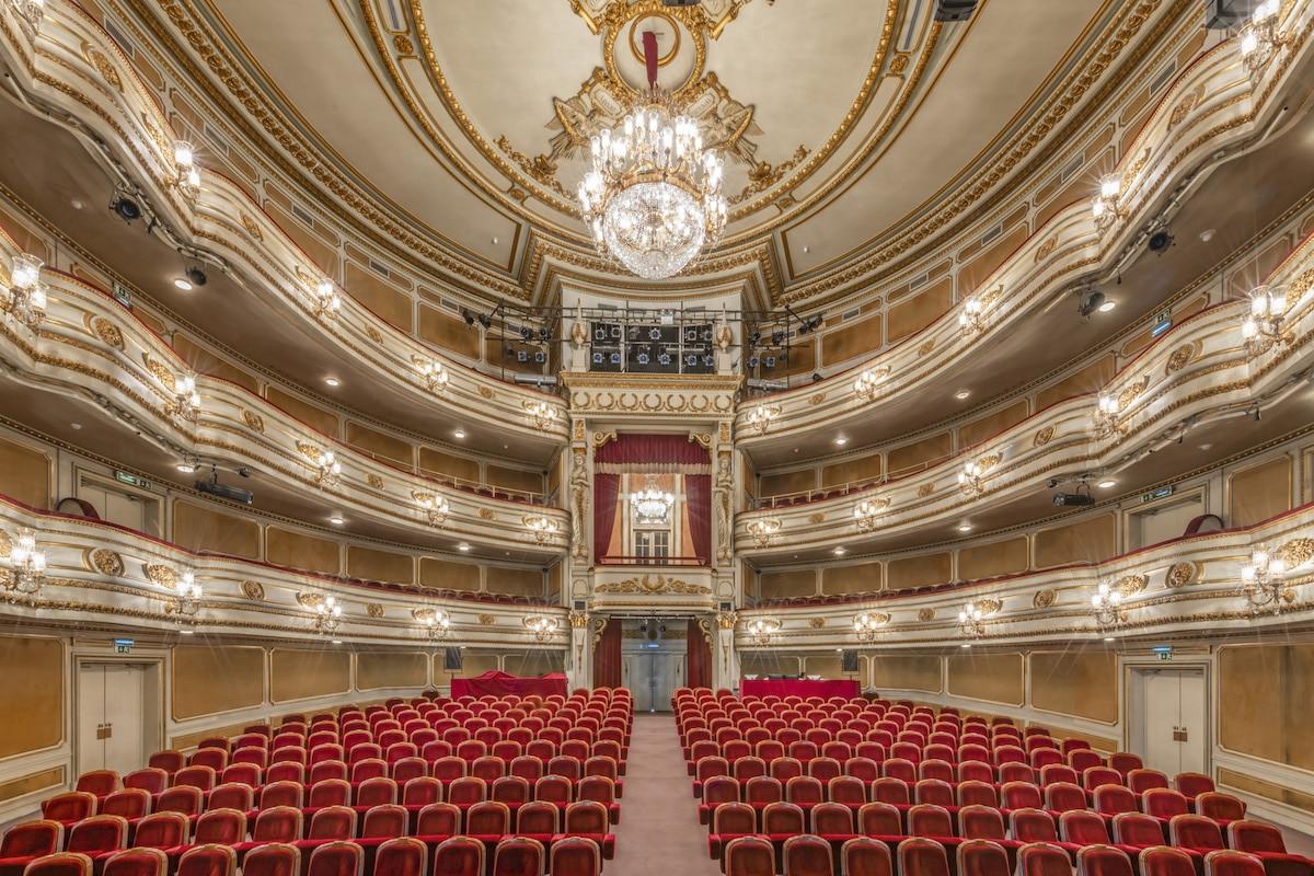 Interior of Teatro Nacional D. Maria II, Lisbon, Portugal