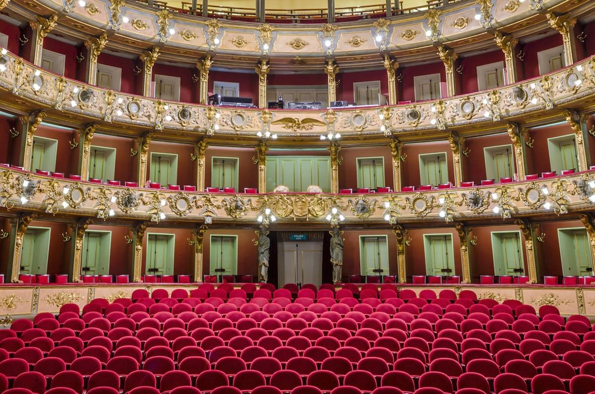Interior of Teatro Colon, Bogota, Colombia