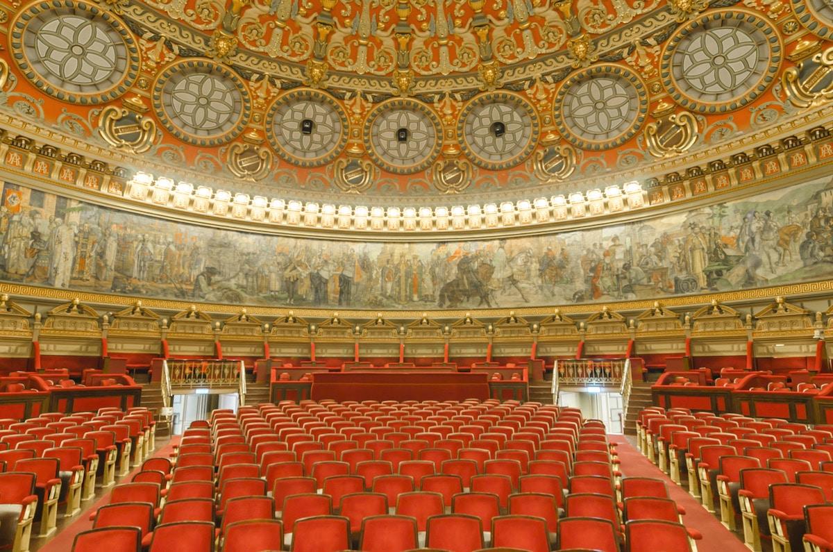 Interior of The Romanian Atheneum, Bucharest, Romania