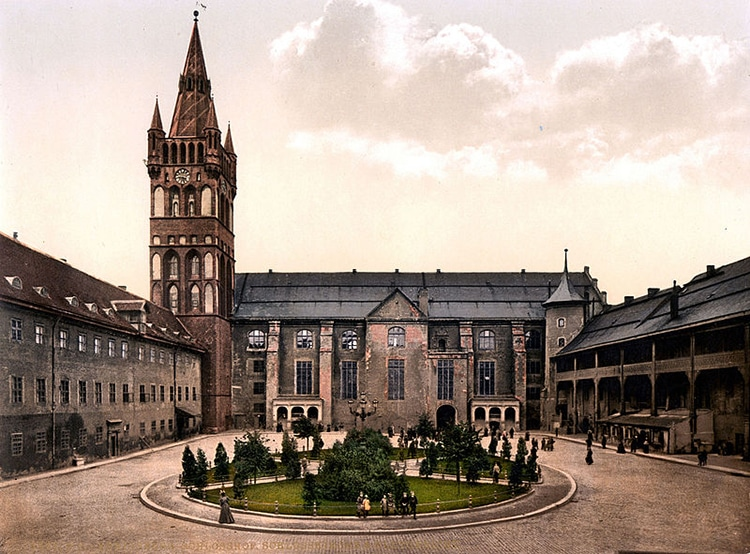 Königsberg Castle Courtyard circa 1890