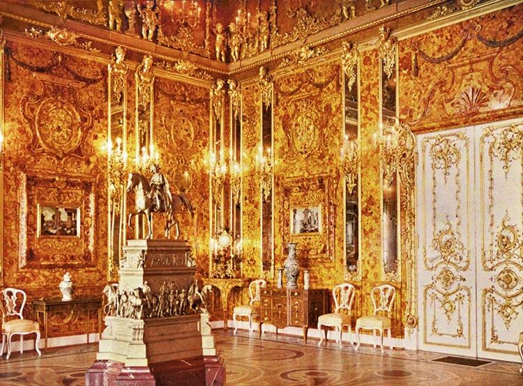 Autochrome of the Original Amber Room