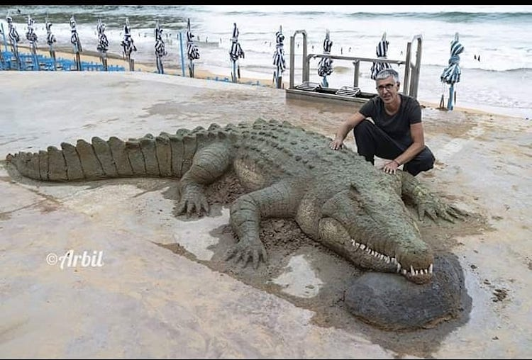 Realistic Sand Sculptures of Animals by Andoni Bastarrika