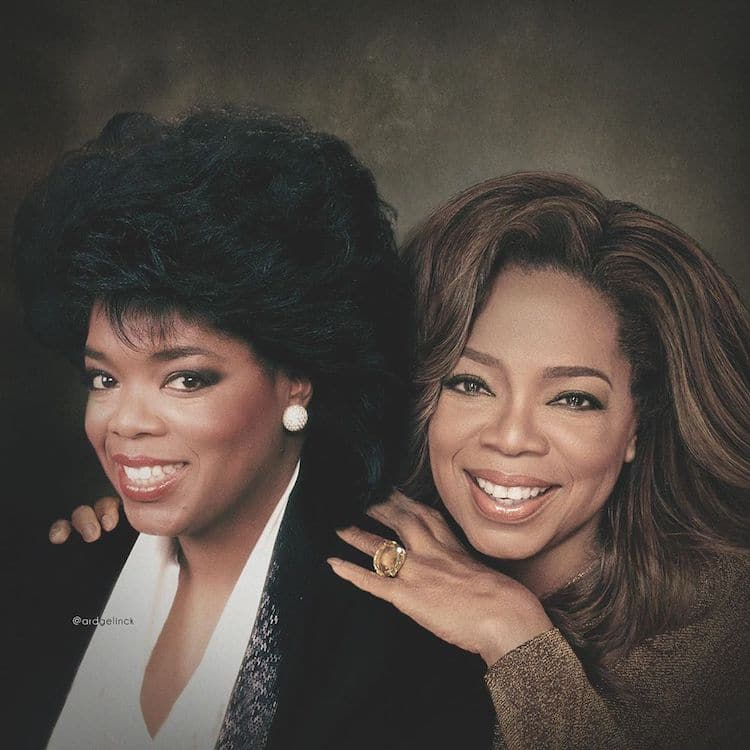 Oprah Then and Now