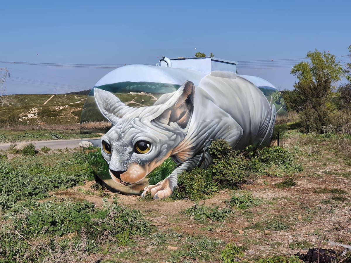 Sphynx Cat Painted on a Gas Tank by Braga Last One