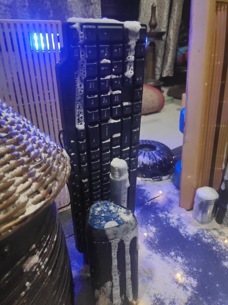 nieve falsa para sesion de fotos