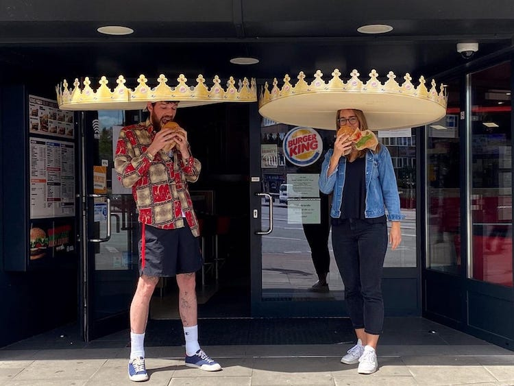 Giant Burger King Crown for Social Distancing