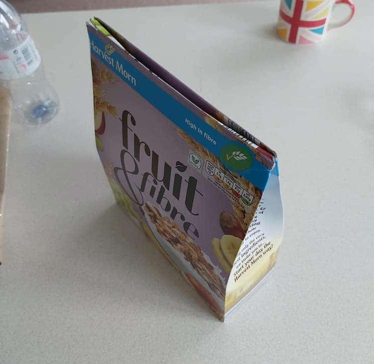 Life Hack for Folding Cereal Boxes