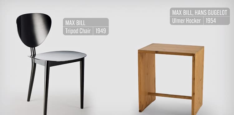Two Chairs from Vitra's documentary Chair Times: A History of Seating – From 1800 to Today