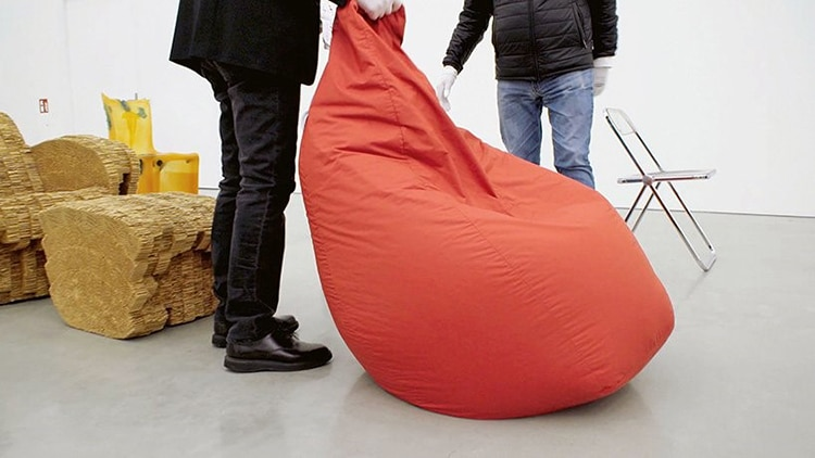 Bean Bag From Vitra's documentary Chair Times: A History of Seating – From 1800 to Today