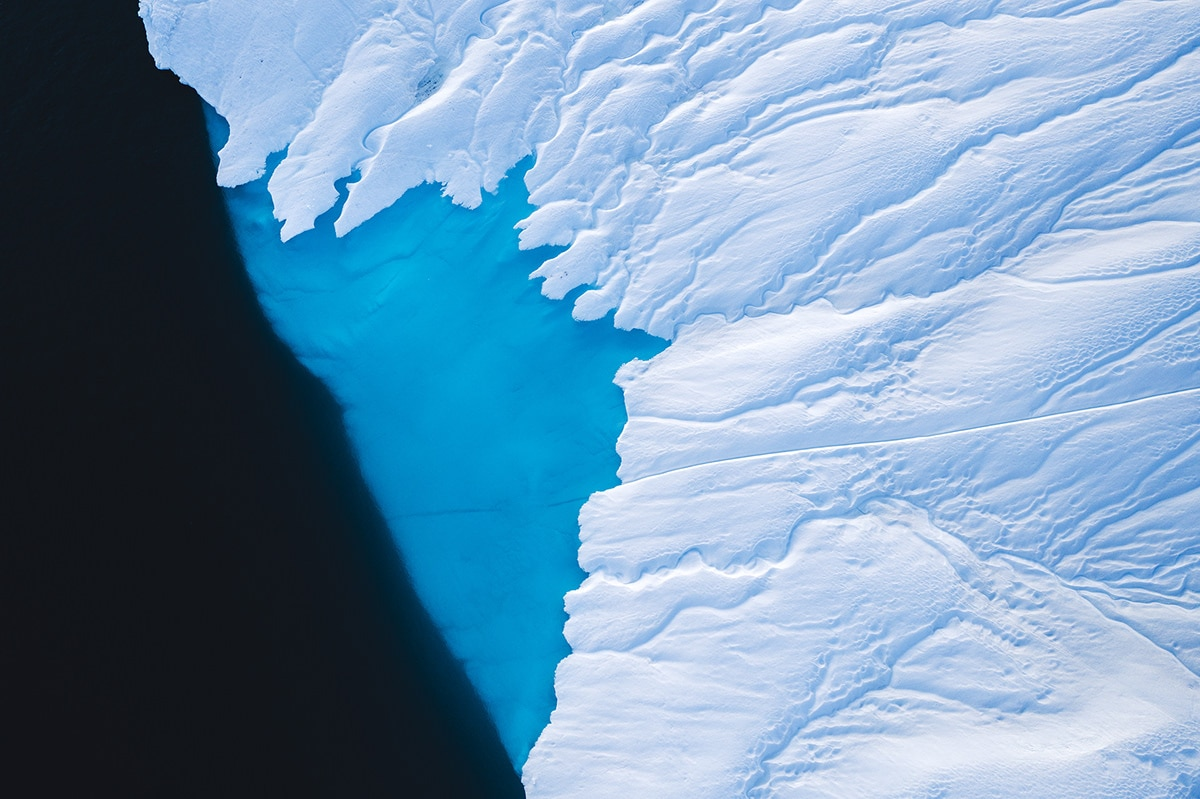 Abstract Aerial Photo of Greenland