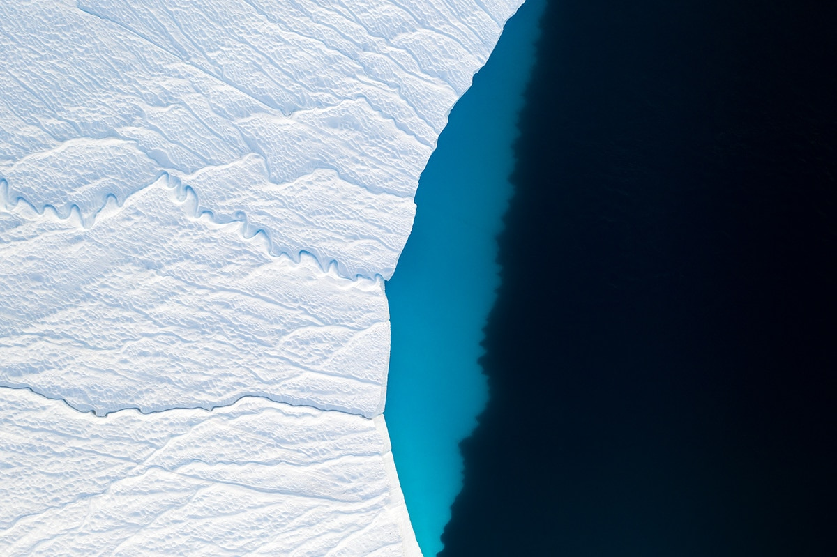 Aerial Photo of an Iceberg in Greenland