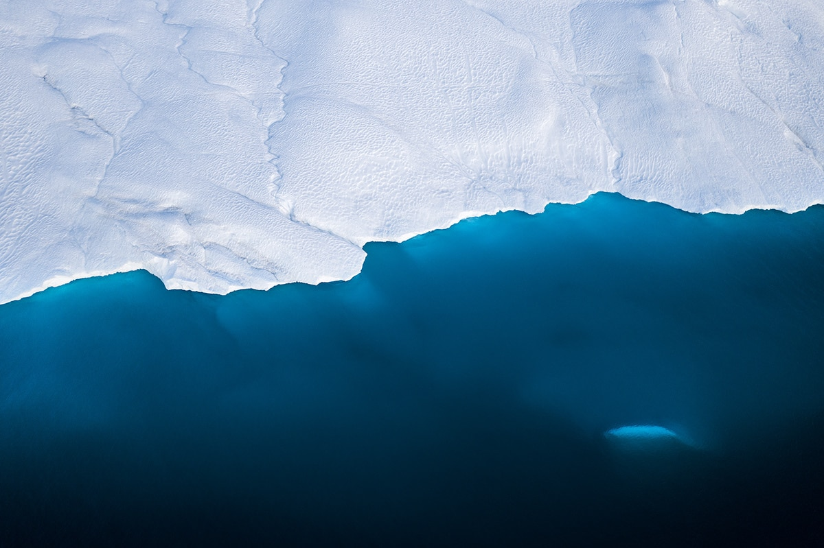 Abstract Photo of an Iceberg
