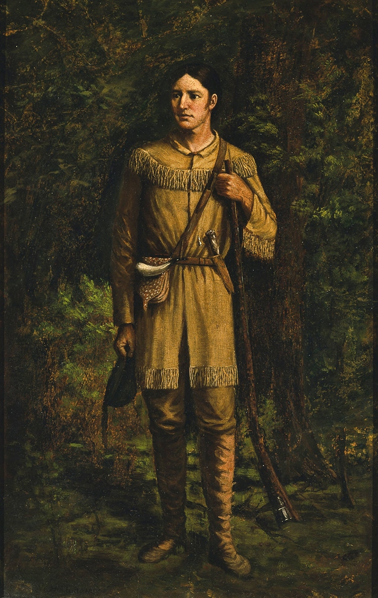 1889 Davy Crockett Portrait by William Henry Huddle