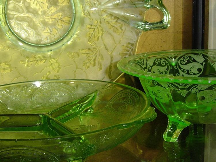 Depression Glass o vidrio de la depresion verde