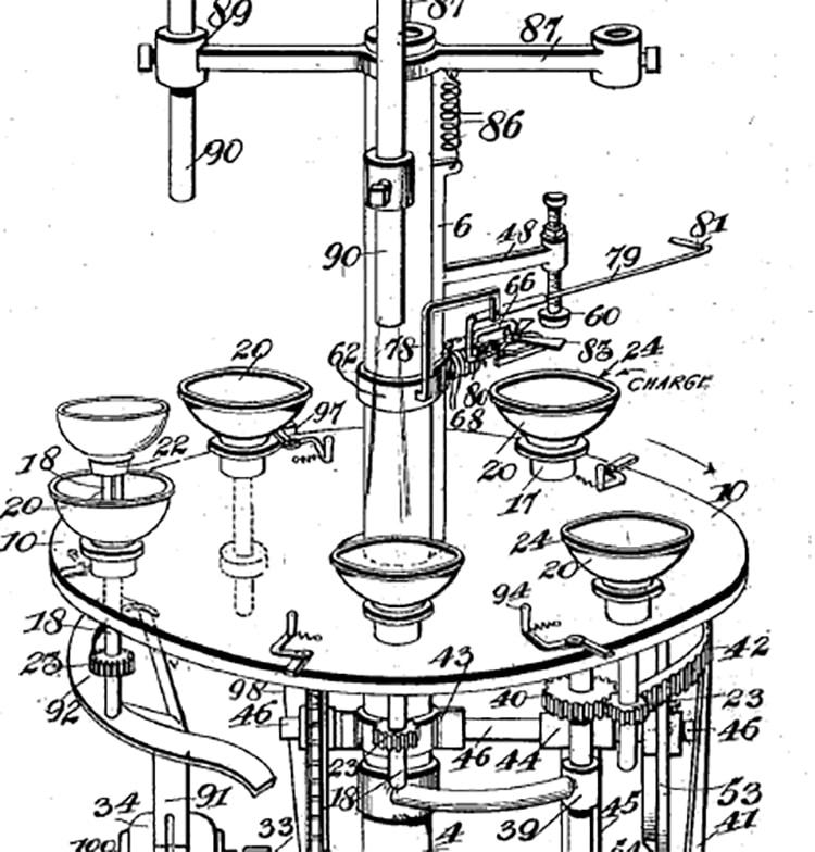 maquina de cristaleria de 1916
