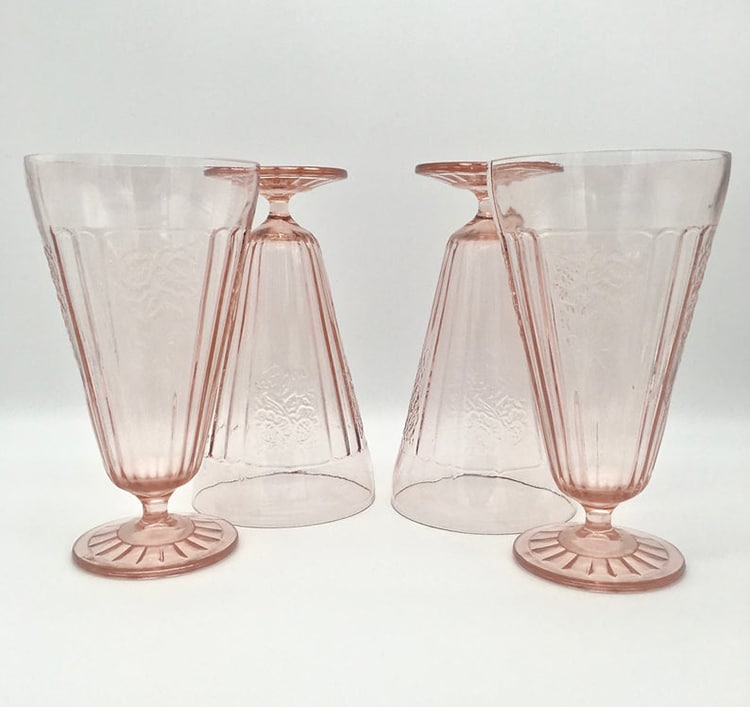 Mayfair Pink o Depression Glass rosa