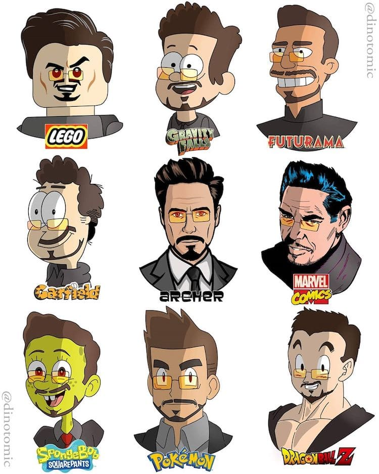 dibujos de Robert Downey Jr.