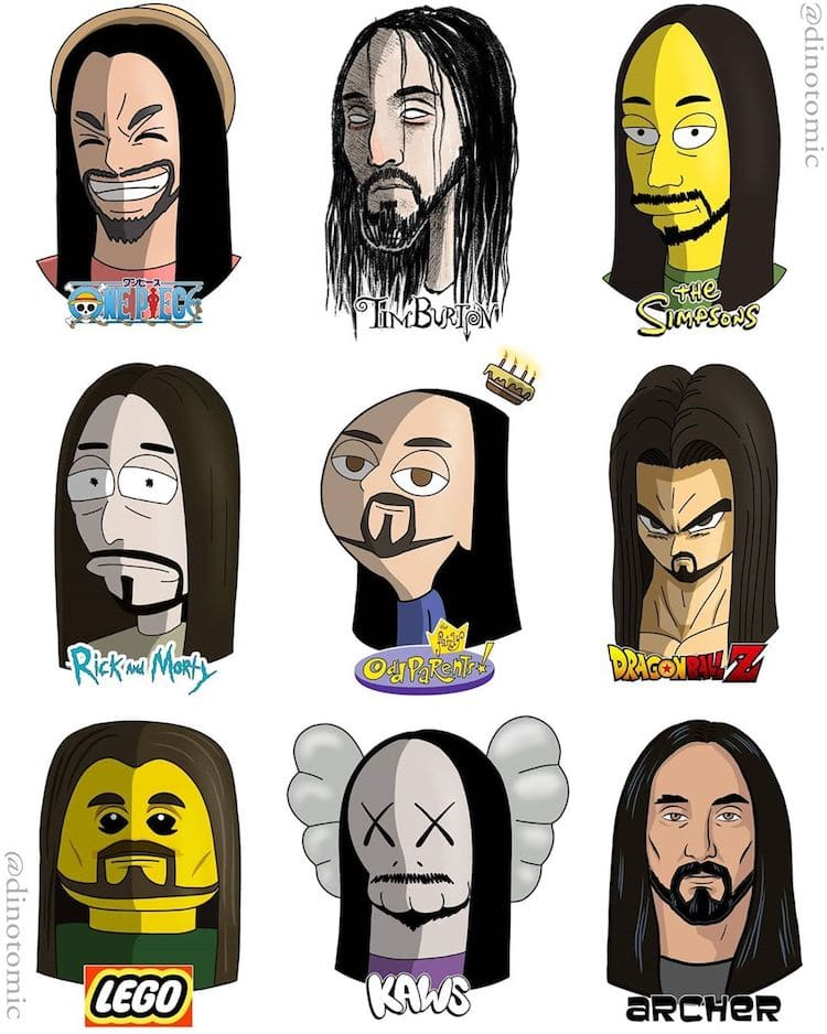 Celebrity Cartoons by Dino Tomic